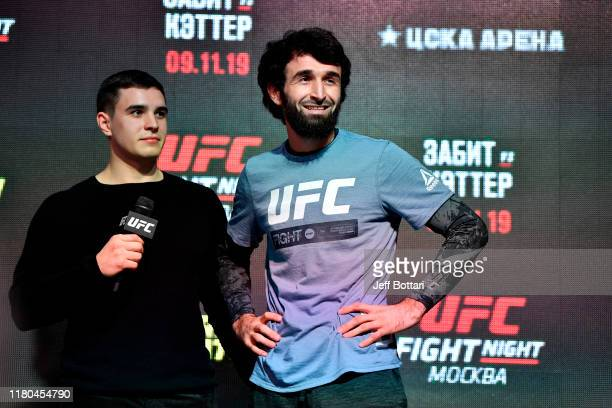 Zabit Magomedsharipov of Russia holds an open training session for fans and media during UFC Fight Night open workouts at Arbat Hall on November 6...