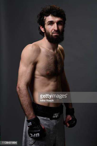 Zabit Magomedsharipov of Russia poses for a portrait backstage during the UFC 235 event at TMobile Arena on March 2 2019 in Las Vegas Nevada