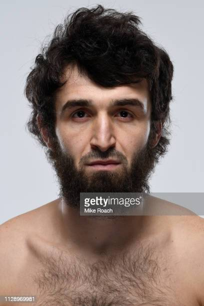 Zabit Magomedsharipov of Russia poses for a portrait during a UFC photo session on February 27 2019 in Las Vegas Nevada