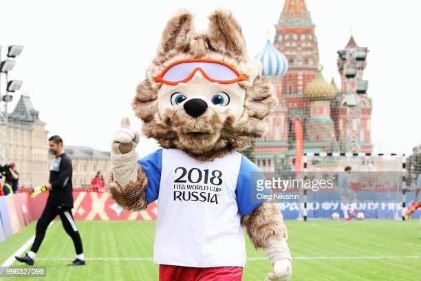 Zabivaka during the Legends Football Match in 'The park of Soccer and rest' at Red Square on July 11 2018 in Moscow Russia