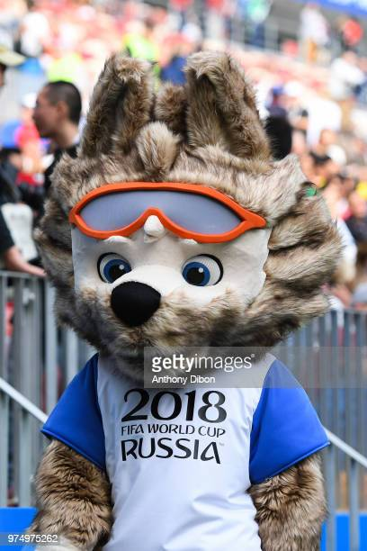 Zabivaka Official Mascot World Cup 2018 during the 2018 FIFA World Cup Russia group A match between Russia and Saudi Arabia at Luzhniki Stadium on...