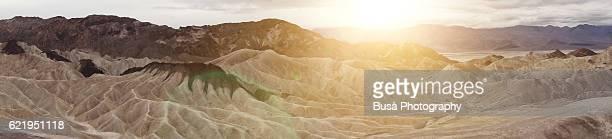 Zabriskie Point, Amargosa Range, east of Death Valley in Death Valley National Park in California, United States
