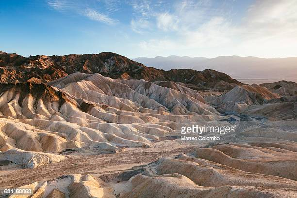 zabriskie point at sunset, death valley, usa - death valley national park stock pictures, royalty-free photos & images
