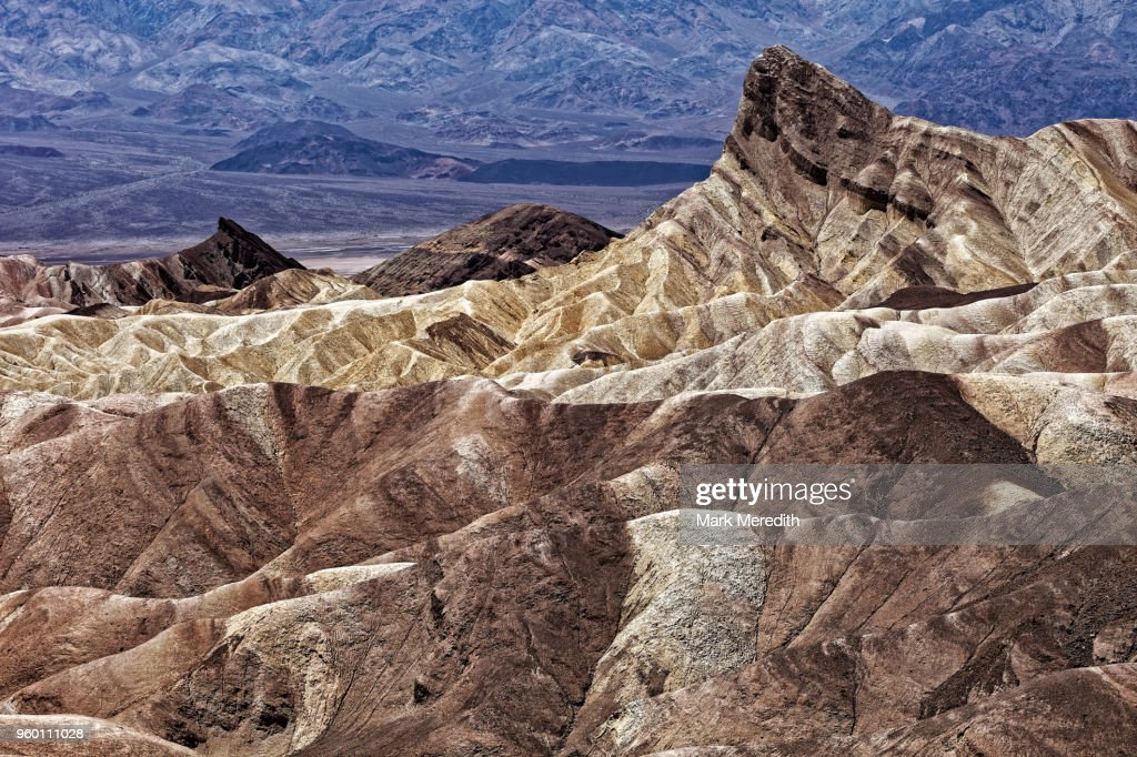 Zabriskie Point in Death Valley : Stock-Foto