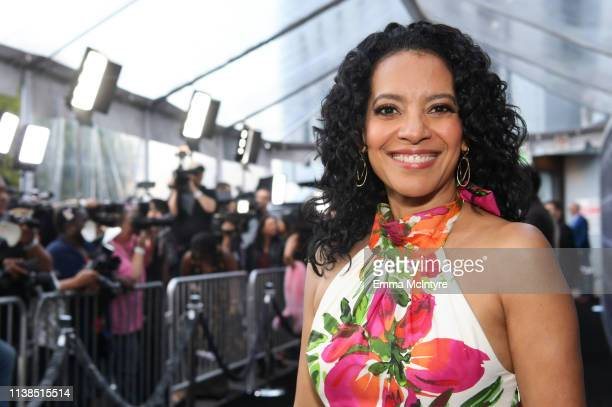 Zabryna Guevara attends CBS All Access new series The Twilight Zone premiere at the Harmony Gold Preview House and Theater on March 26 2019 in...