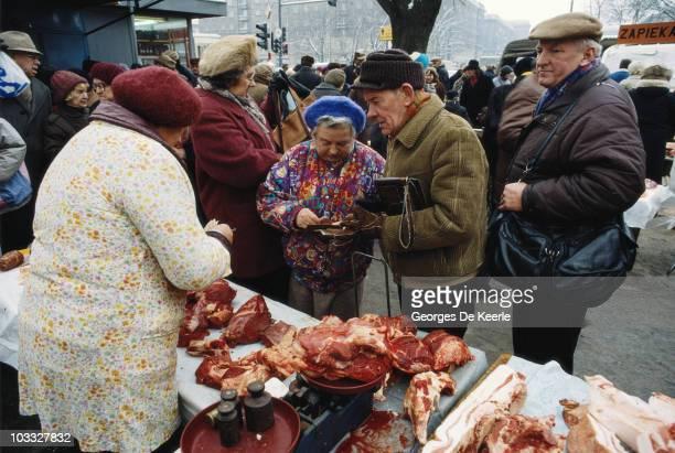 Zabrze market in Poland, 1990.