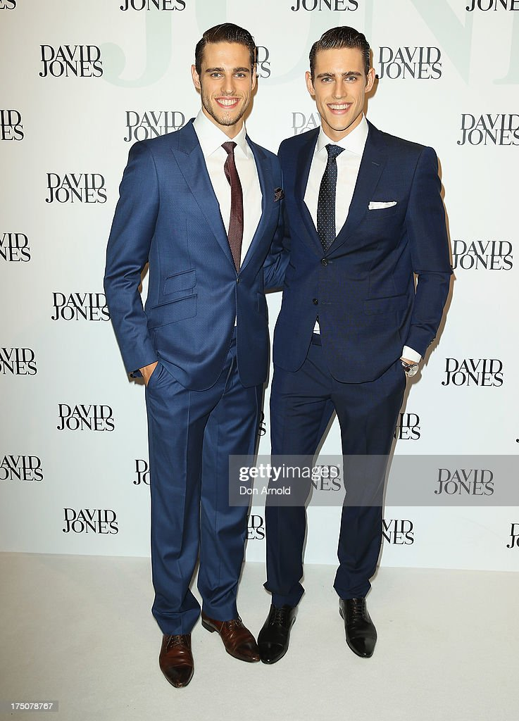Zac And Jordan Stenmark arrive at the David Jones Spring/Summer 2013 Collection Launch at David Jones Elizabeth Street on July 31, 2013 in Sydney, Australia.