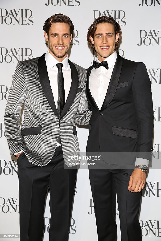 Zac and Jordan Stenmark arrive at the David Jones Spring/Summer 2014 Collection Launch at David Jones Elizabeth Street Store on July 30, 2014 in Sydney, Australia.