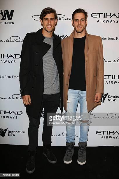 Zac and Jordan Stenmark attends the Oscar de la Renta show presented by Etihad Airways at MercedesBenz Fashion Week Resort 17 Collections at...