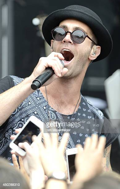 Zac Barnett of American Authors performs during the Chipotle Cultivate Festival at Hellman Hollow in Golden Gate Park on June 7 2014 in San Francisco...