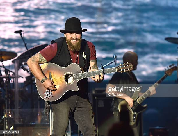 Zac Brown and the Zac Brown Band performs during the 2015 KAABOO Del Mar at the Del Mar Fairgorunds on September 19 2015 in Del Mar California