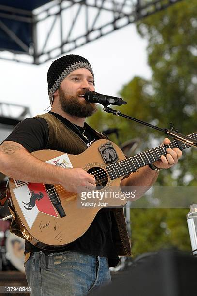 Zac Brown attends Kiss Country Chilli Cookoff 2012 at CB Smith Park on January 29 2012 in Hollywood Florida