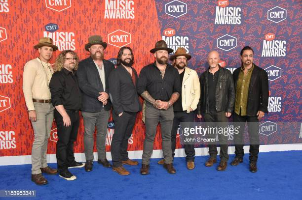 Zac Brown Band attends the 2019 CMT Music Awards at Bridgestone Arena on June 05 2019 in Nashville Tennessee