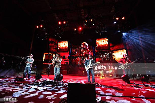 Zac Brown Band performs at Red Rocks Amphitheater on September 5, 2011 in Morrison, Colorado.