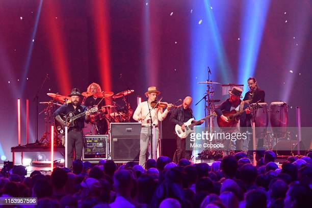 Zac Brown Band performs at the 2019 CMT Music Awards at Bridgestone Arena on June 05 2019 in Nashville Tennessee
