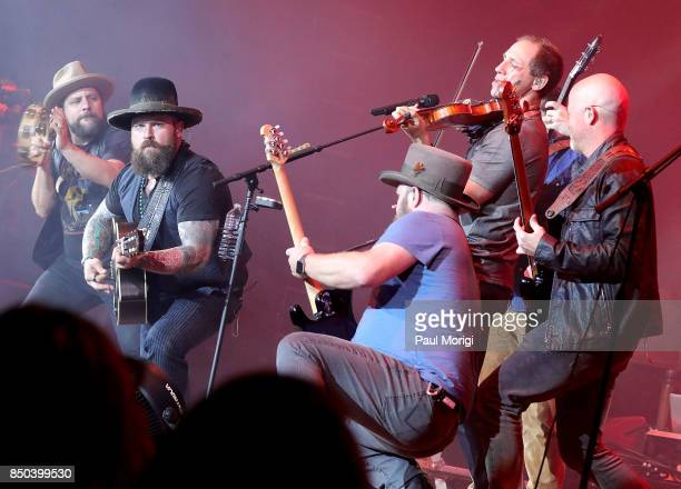 Zac Brown Band performs at the VetsAid Charity Benefit Concert at Eagle Bank Arena on September 20 2017 in Fairfax Virginia VetsAid is a foundation...