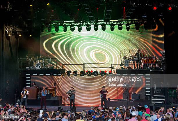 Zac Brown band performs during the Black Out The Sun Tour at DTE Energy Music Theater on July 2 2016 in Clarkston Michigan