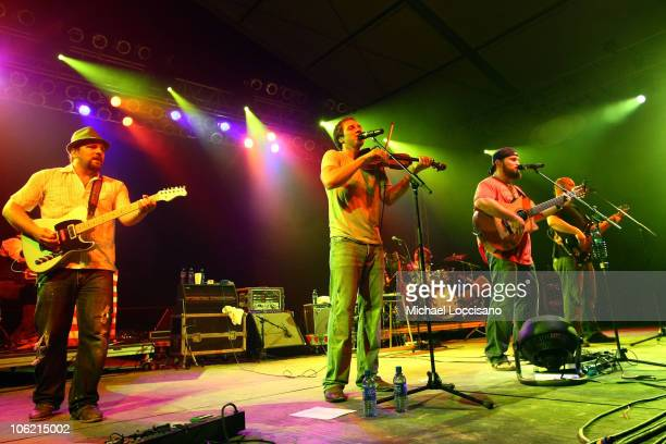 Zac Brown Band performs on stage during Bonnaroo 2009 on June 11 2009 in Manchester Tennessee