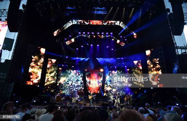 Zac Brown Band performs on stage during the Down The Rabbit Hole Tour in Boston at Fenway Park on June 15 2018 in Boston Massachusetts