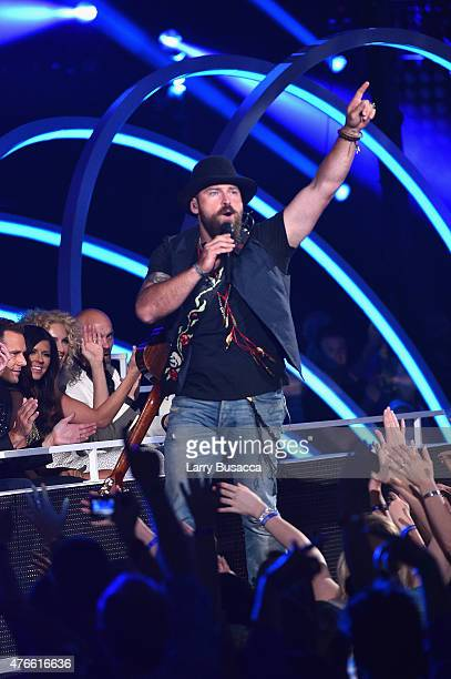 Zac Brown Band performs onstage during the 2015 CMT Music awards at the Bridgestone Arena on June 10, 2015 in Nashville, Tennessee.