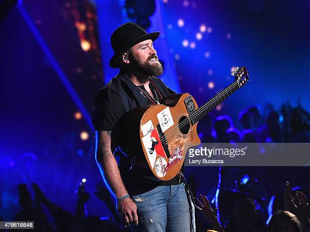 Zac Brown Band performs onstage during the 2015 CMT Music awards at the Bridgestone Arena on June 10 2015 in Nashville Tennessee