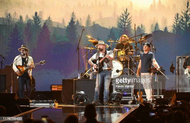Zac Brown Band performs onstage during the 2019 iHeartRadio Music Festival at TMobile Arena on September 21 2019 in Las Vegas Nevada