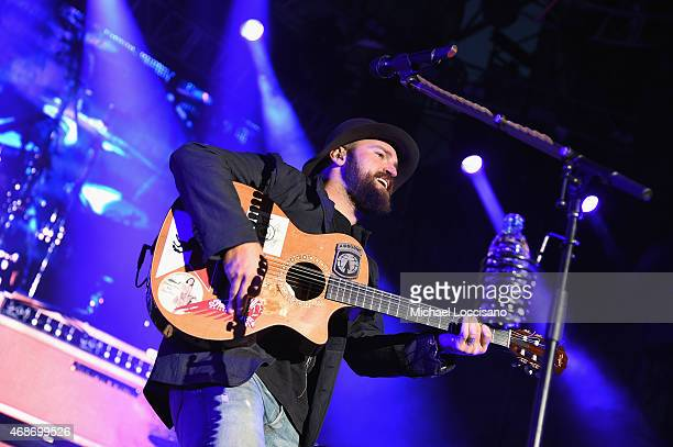 Zac Brown Band performs onstage during the Capital One JamFest at the NCAA March Madness Music Festival – Day 3 at White River State Park on April 5...