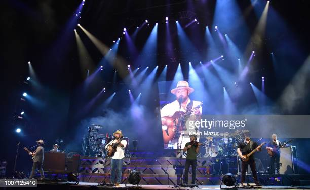 Zac Brown Band performs onstage during their Down The Rabbit Hole tour at Citi Field on July 28 2018 in New York City