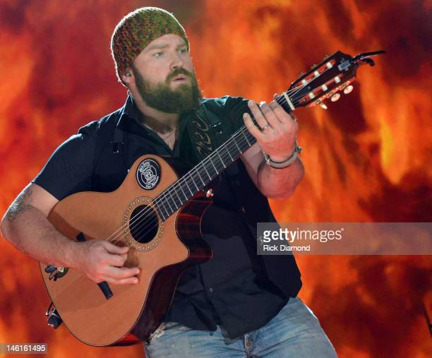 Zac Brown of The Zac Brown Band performs during the 2012 CMA Music Festival Day 1 at LP Field on June 7 2012 in Nashville Tennessee
