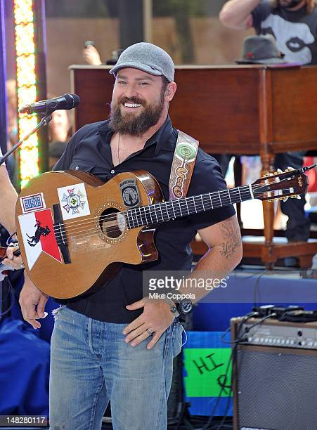Zac Brown of The Zac Brown Band performs on NBC's Today at Rockefeller Plaza on July 13 2012 in New York City