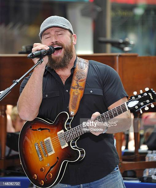 Zac Brown of The Zac Brown Band performs on NBC's 'Today' at Rockefeller Plaza on July 13 2012 in New York City