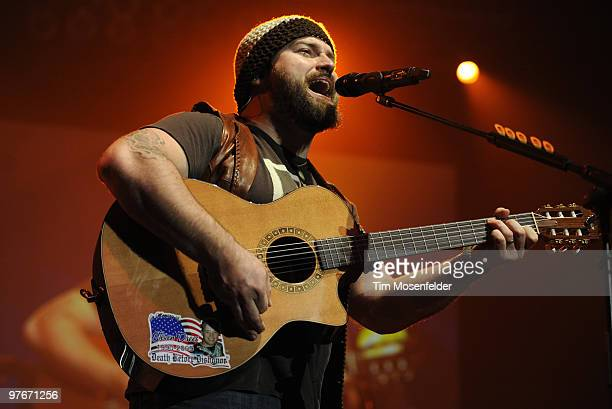 Zac Brown of the Zac Brown Band performs part of the bands' Breaking Southern Ground Tour at Arco Arena on March 11, 2010 in Sacramento, California.
