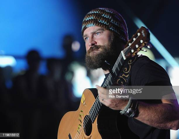 Zac Brown of Zac Brown Band performs during the Country Thunder music festival on July 22 2011 in Twin Lakes Wisconsin