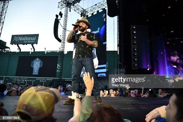 "Zac Brown of Zac Brown Band performs on stage during the ""Down The Rabbit Hole"" Tour in Boston at Fenway Park on June 15, 2018 in Boston,..."