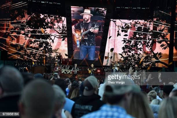 Zac Brown of Zac Brown Band performs on stage during the Down The Rabbit Hole Tour in Boston at Fenway Park on June 15 2018 in Boston Massachusetts
