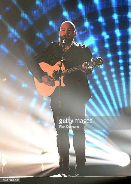 Zac Brown of Zac Brown Band performs onstage at the 49th annual CMA Awards at the Bridgestone Arena on November 4 2015 in Nashville Tennessee