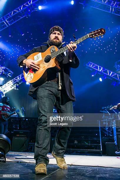Zac Brown performs at Joe Louis Arena on January 1 2014 in Detroit Michigan