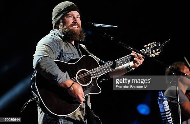 Zac Brown performs at LP Field during the 2013 CMA Music Festival on June 6, 2013 in Nashville, Tennessee.