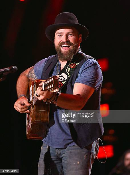 Zac Brown performs at LP Field during the 2015 CMA Festival on June 12, 2015 in Nashville, Tennessee.