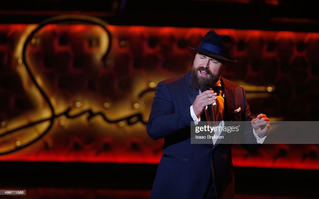 Zac Brown performs during 'Sinatra 100: An All-Star GRAMMY Concert' celebrating the late Frank Sinatra's 100th birthday at the Encore Theater at Wynn Las Vegas on December 2, 2015 in Las Vegas, Nevada. The show will air on CBS on December 6.