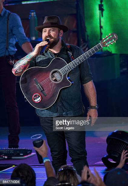 Zac Brown performs during the Black Out The Sun Tour at DTE Energy Music Theater on July 2 2016 in Clarkston Michigan