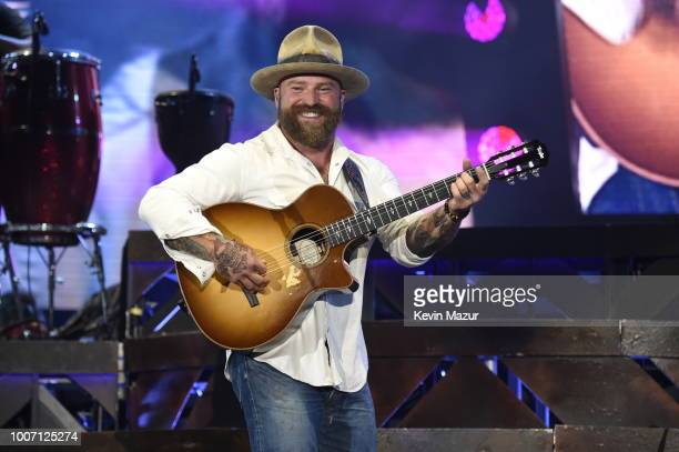 "Zac Brown performs onstage during Zac Brown Band ""Down The Rabbit Hole"" tour at Citi Field on July 28, 2018 in New York City."