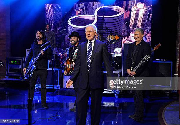 Zac Brown performs with the Foo Fighters on the Late Show with David Letterman Monday Oct 13 2014 on the CBS Television Network