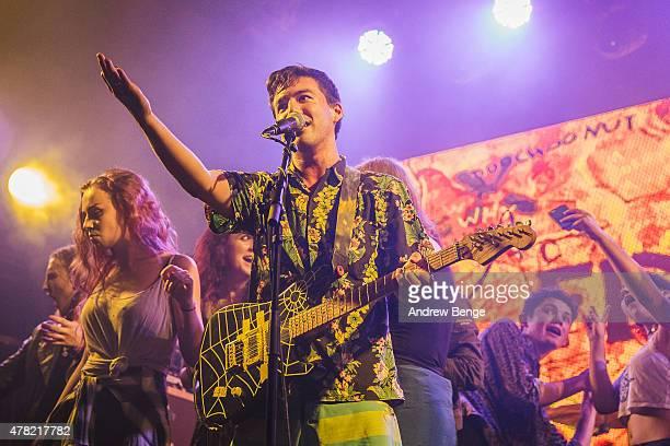 Zac Carper of Fidlar performs on stage at Heaven on June 23 2015 in London United Kingdom