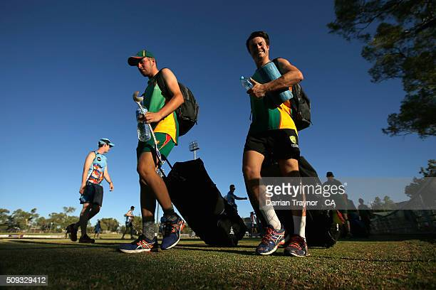 Zac Chapman of Tasmania smiles for the camer before playing New South Wales during day 3 of the National Indigenous Cricket Championships on February...