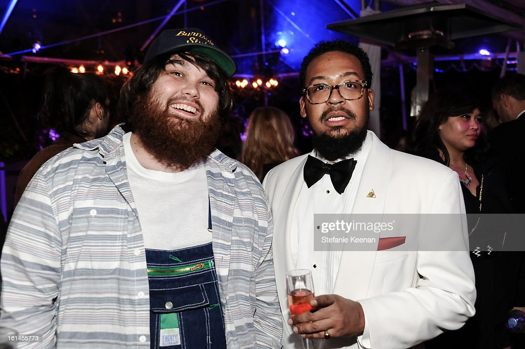 Zac Cockrell and Om'Mas Keith attend Red Light Management Grammy After Party at Mondrian Los Angeles on February 10, 2013 in West Hollywood, California.