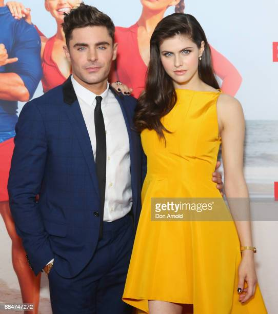 Zac Efron and Alexandra Daddario arrives ahead of the Australian Premiere of Baywatch on May 18 2017 in Sydney Australia