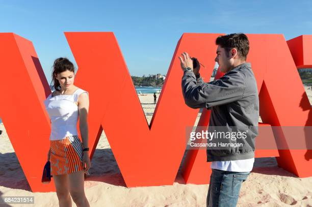 Zac Efron and Alexandra Daddario at the 'Baywatch' photo call at Bondi Beach on May 17 2017 in Sydney Australia