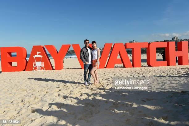 Zac Efron and Alexandra Daddario at the 'Baywatch' photo call at Bondi Beach on May 17 2017 in Sydney Australia