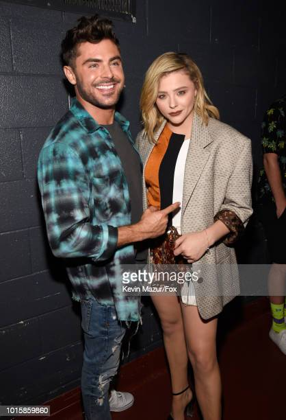 Zac Efron and Chloe Grace Moretz attend FOX's Teen Choice Awards at The Forum on August 12 2018 in Inglewood California